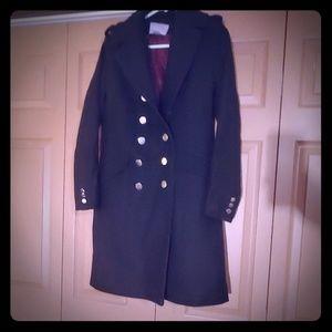 H&M - Military Style Black Winter Coat